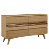 Greenington Azara Double Dresser in Caramel, On Angle