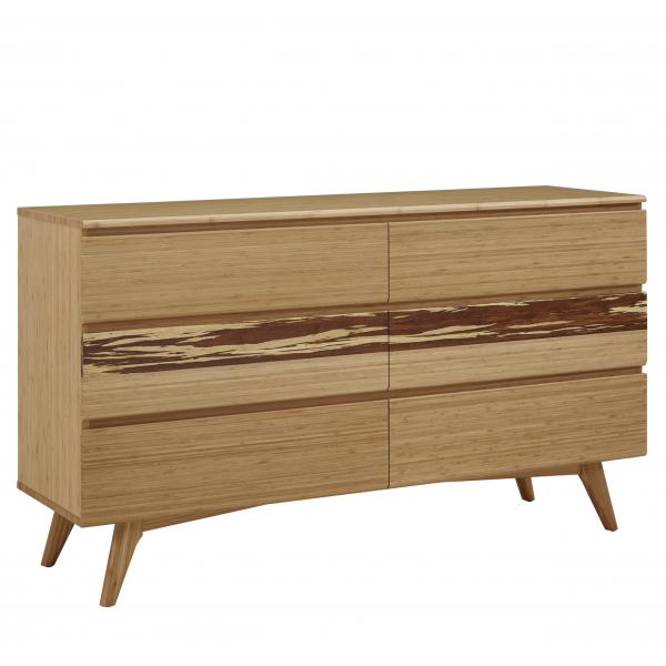Greenington Azara Double Dresser in Caramel, On Angle