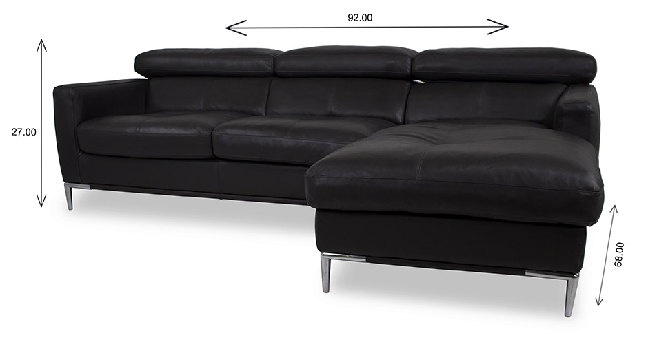 Malmo Sectional with Dimensions