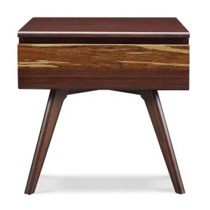 Greeninton Azara Nightstand in Sable Colour, Front