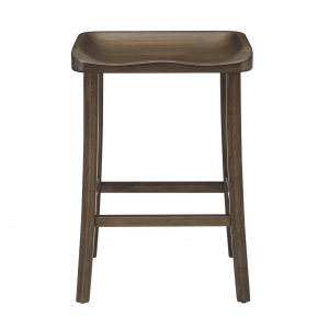 Tulip Counter Stool in Black Walnut, Front