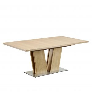 Skovby SM37 Dining Table in Oak, Closed