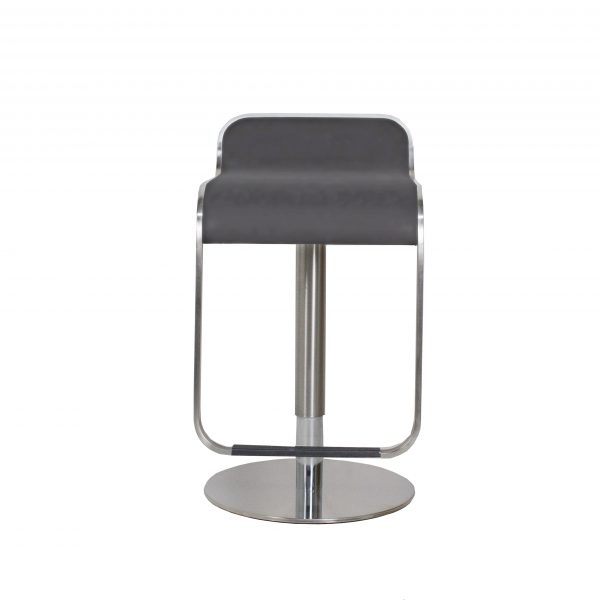Grayson Bar Stool in Grey, Front