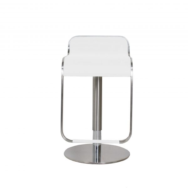 Grayson Bar Stool in White, Front