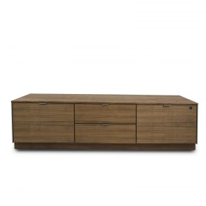 Skovby SM931 TV Unit in Oiled Walnut, Front