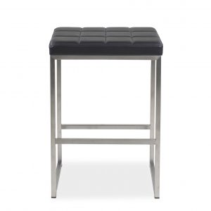 Malene Counter Stool in Black Vinyl
