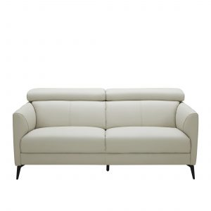 Marki Sofa in Light Grey M Leather, Front