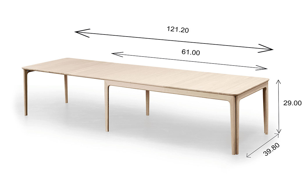 Skovby SM26 Dining Table Dimensions