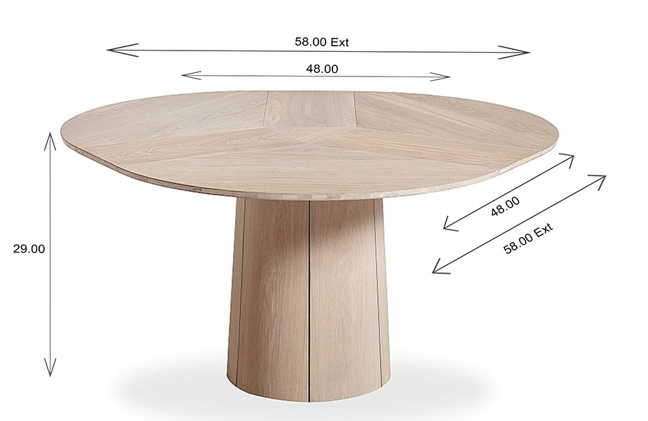 Skovby SM33 Dining Table Dimensions