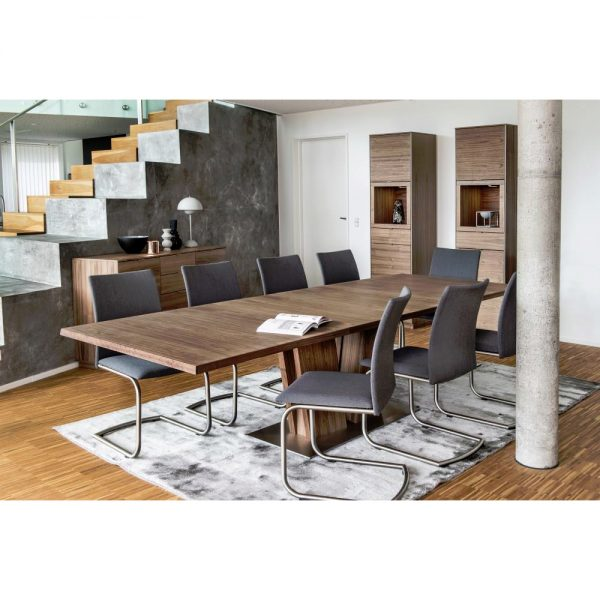 Skovby SM37 Dining Table in Oiled Walnut in Dining Room, Extended