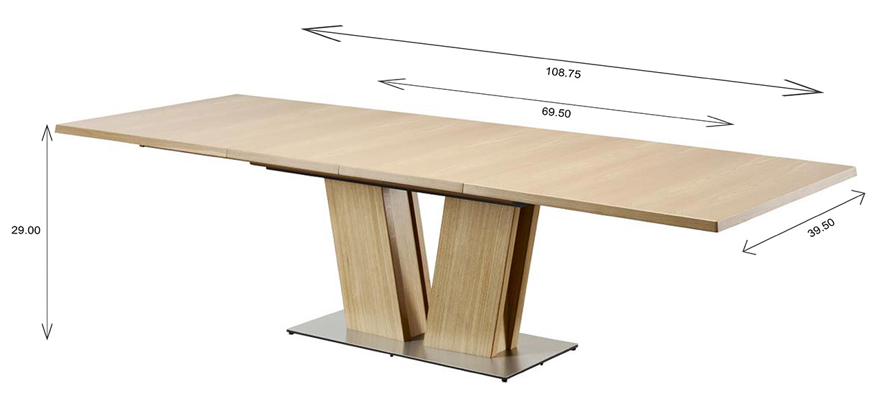 Skovby SM37 Dining Table Dimensions