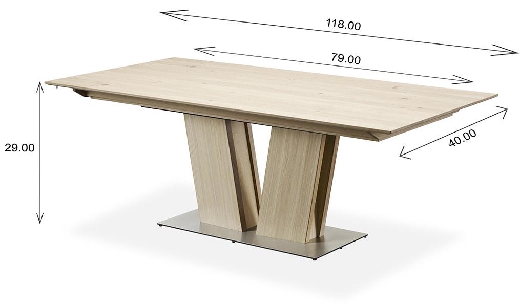 Skovby SM39 Dining Table Dimensions