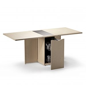 Skovby SM101 Dining Table in Oak, Open