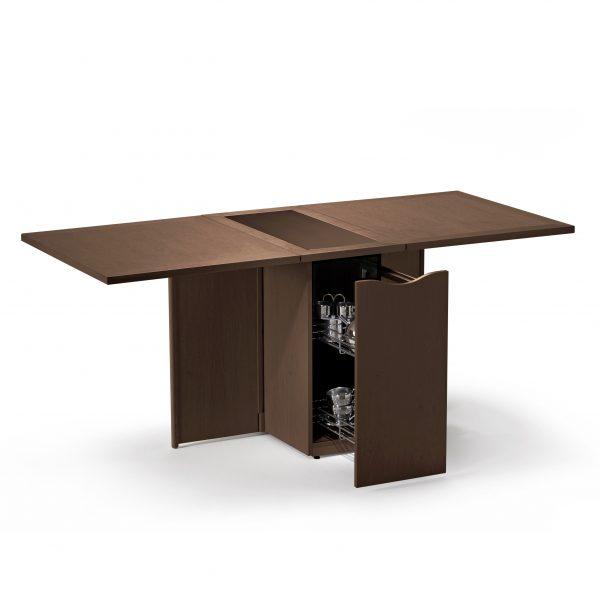 Skovby SM101 Dining Table in Walnut, Open