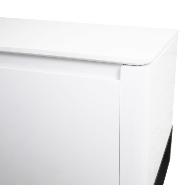 Olympia TV Unit in White Lacquer, Close Up