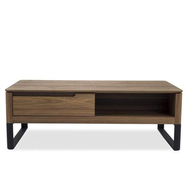 Olympia Coffee Table in Walnut, Front