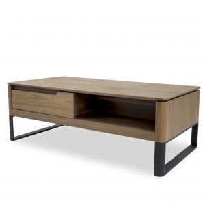 Olympia Coffee Table in Walnut, Angle