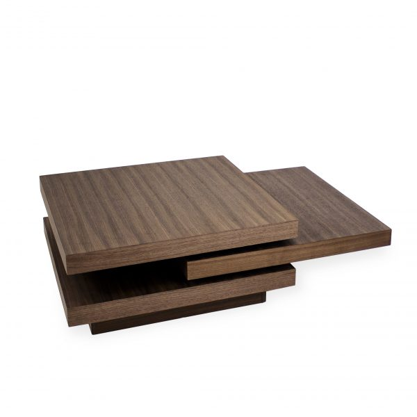 Camosun Coffee Table in Walnut, Angle