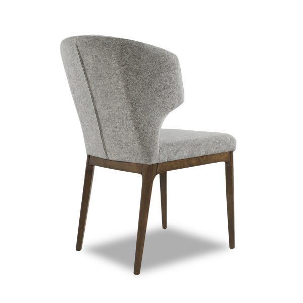 Blake Dining Chair in Shale Fabric, Back