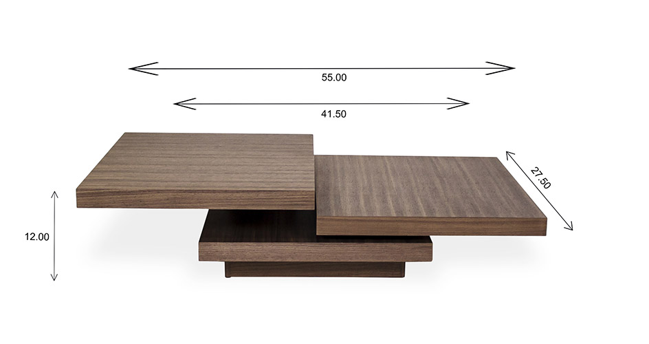Camosun Coffee Table with Dimensions