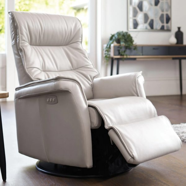 IMG Chelsea RMS Recliner in Trend Cinder, Reclined