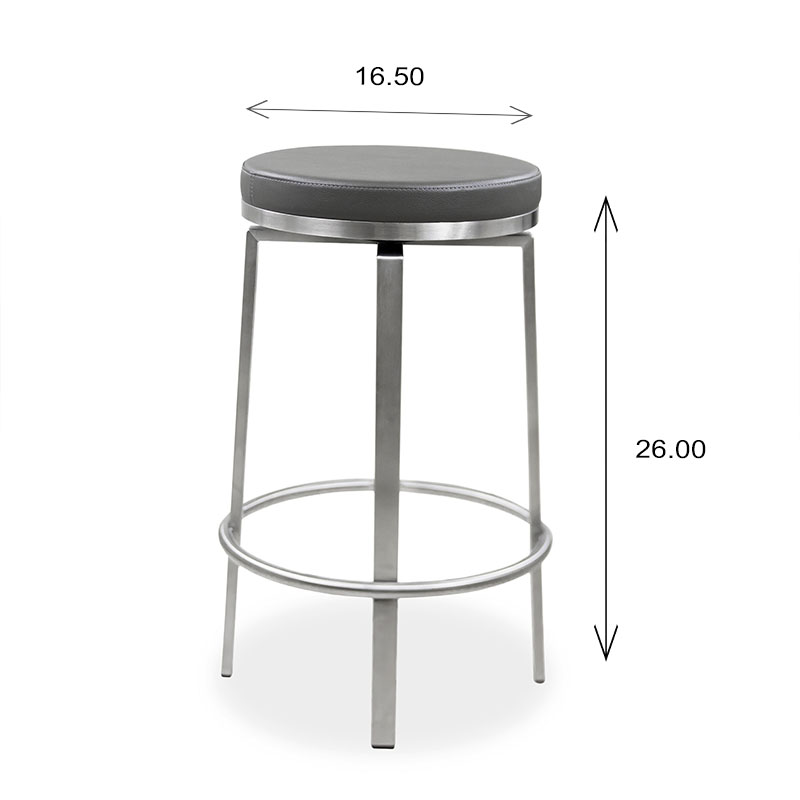 Claire Swivel Counter Stool Size