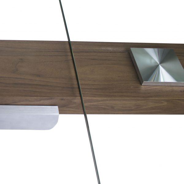 Elliot Dining Table in Walnut, Extension Detail