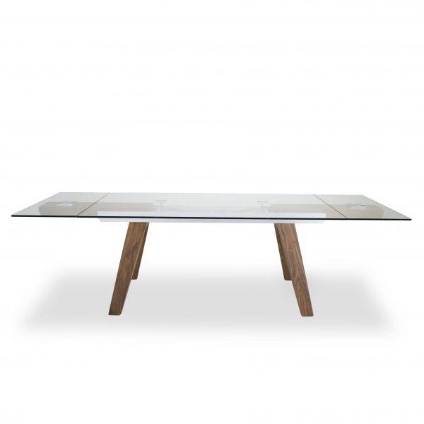 Elliot Dining Table in Walnut, Extended, Straight