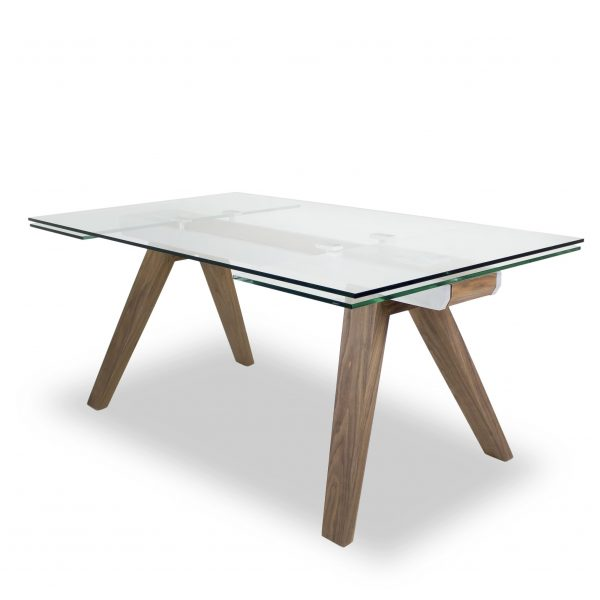 Elliot Dining Table in Walnut, Angle