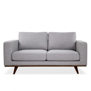 Freeman Loveseat in Platinum Fabric, Straight