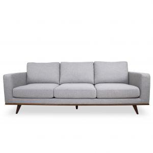 Freeman Sofa in Platinum Fabric, Straight