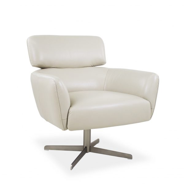 Haley Chair in Light Grey M Leather