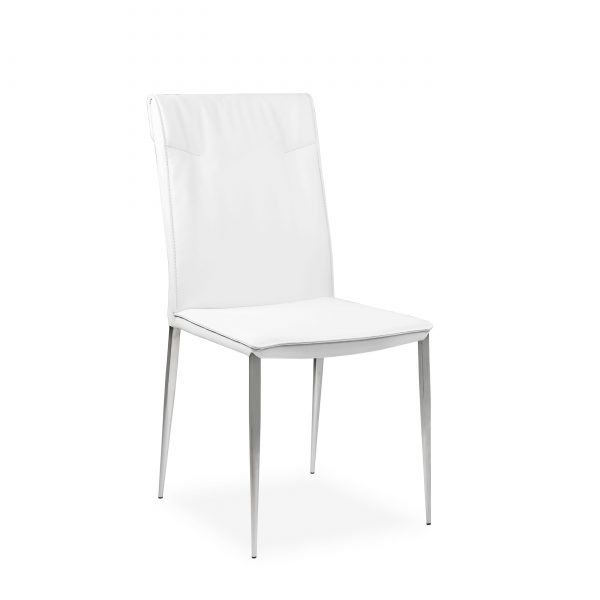 Harp Dining Chair in White, Angle