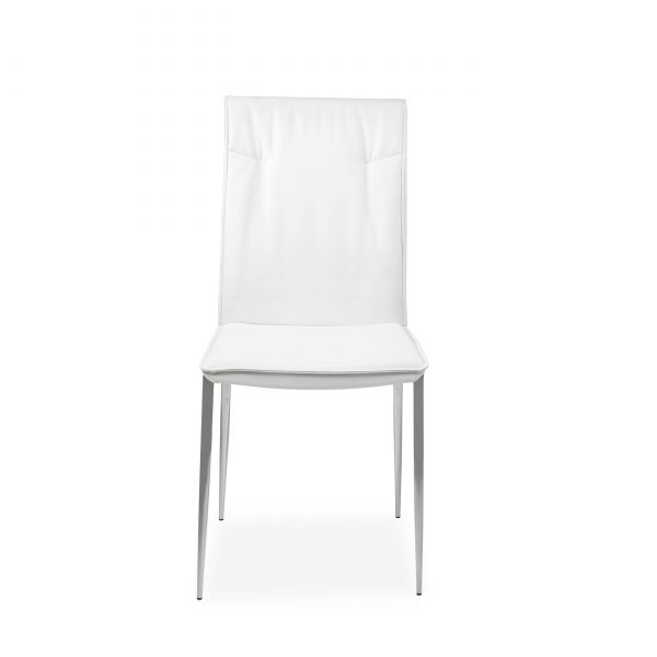 Harp Dining Chair in White, Front