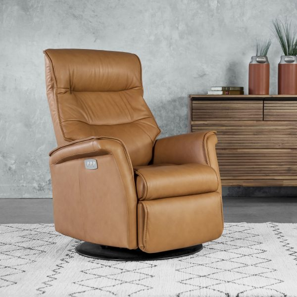 IMG Chelsea RMS Recliner in Nature Leather, Angle