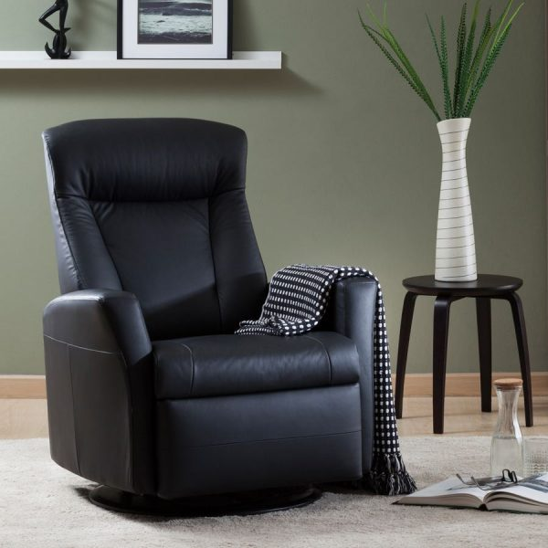 IMG Prince Recliner in Trend Tuxedo with Blanket