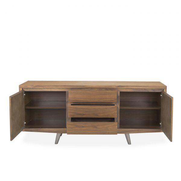 Leon Sideboard in Walnut, Front, Open