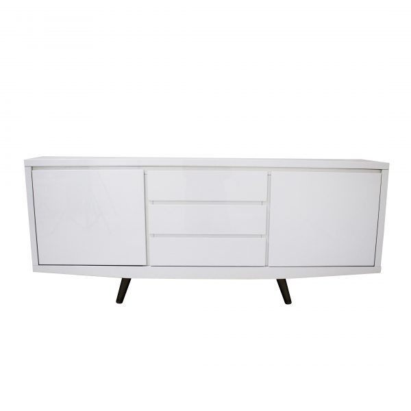 Leon Sideboard in White Lacquer, Front