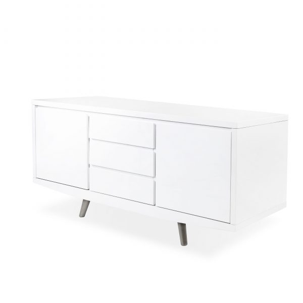 Leon Sideboard in White, Angle