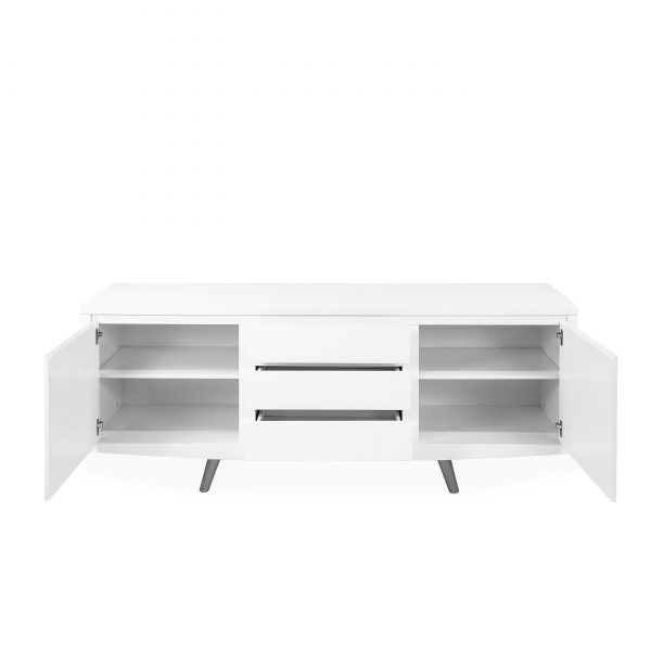 Leon Sideboard in White, Front, Open