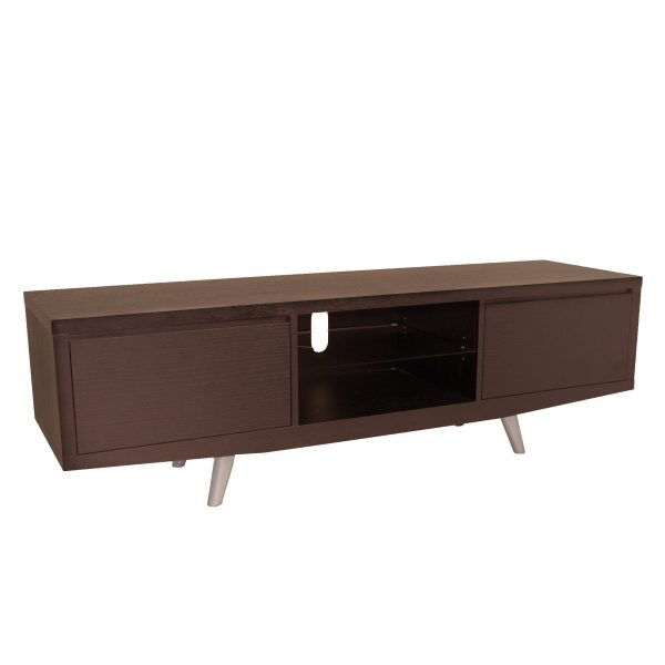 Leon TV Unit in Walnut, Angle