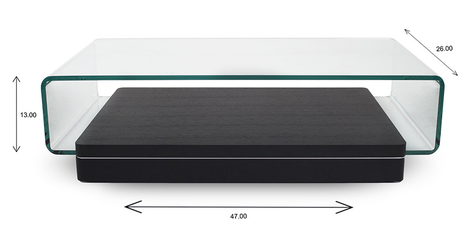 Lepage Coffee Table with Dimensions