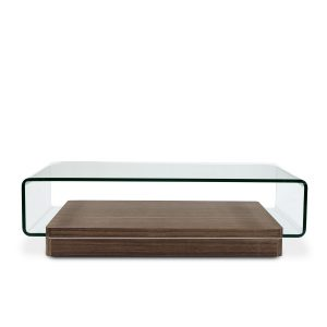 Lepage Coffee Table in Walnut, Front