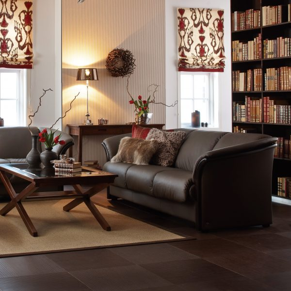 Ekornes® Manhattan Loveseat and Sofa in Living Room