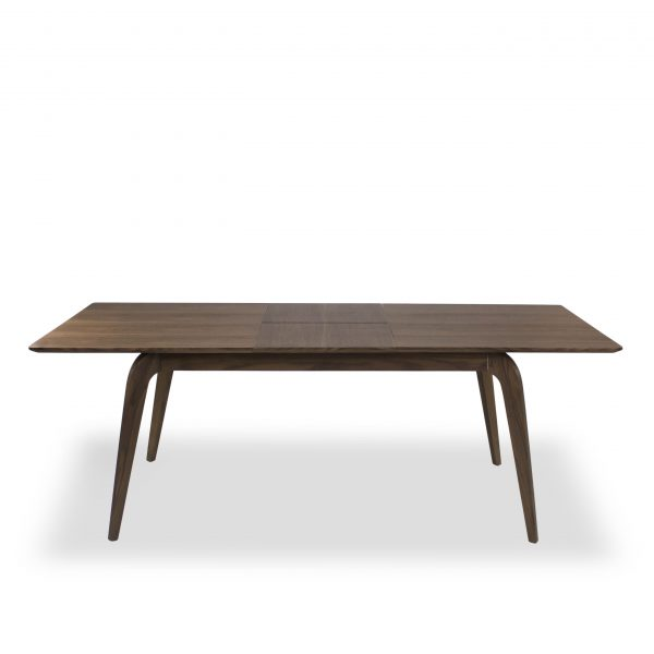 Margo Dining Table in Walnut, Straight, Extended