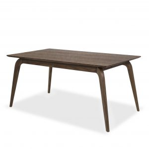 Margo Dining Table in Walnut, Angle