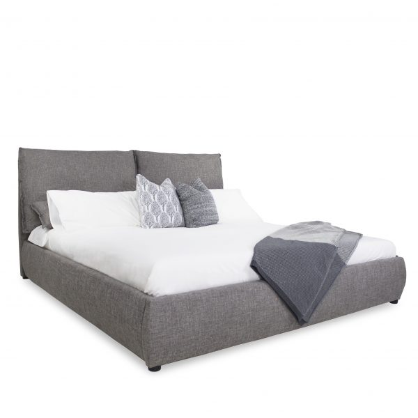 Mason Storage Bed in Grey Fabric