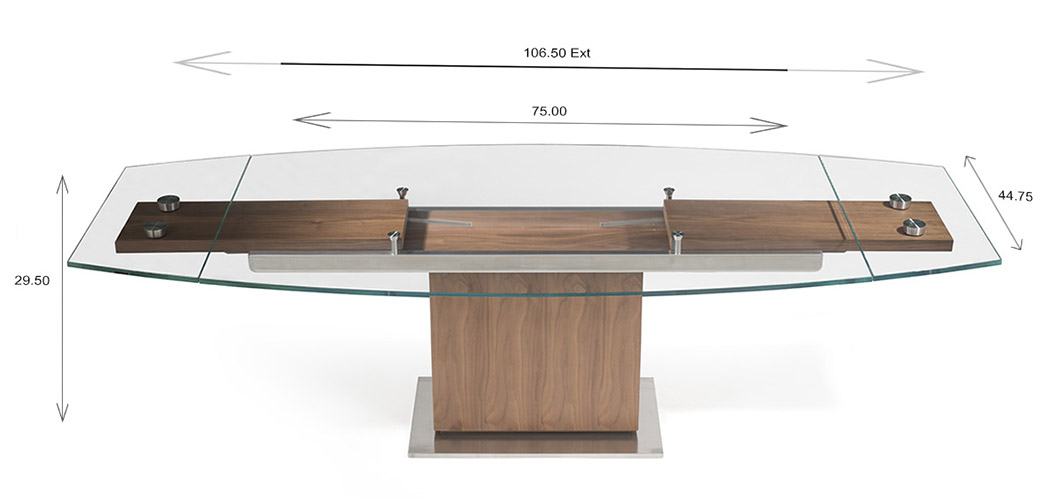 Mercurio Dining Table Dimensions