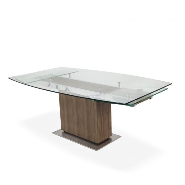 Mercurio Dining Table in Walnut, Angle
