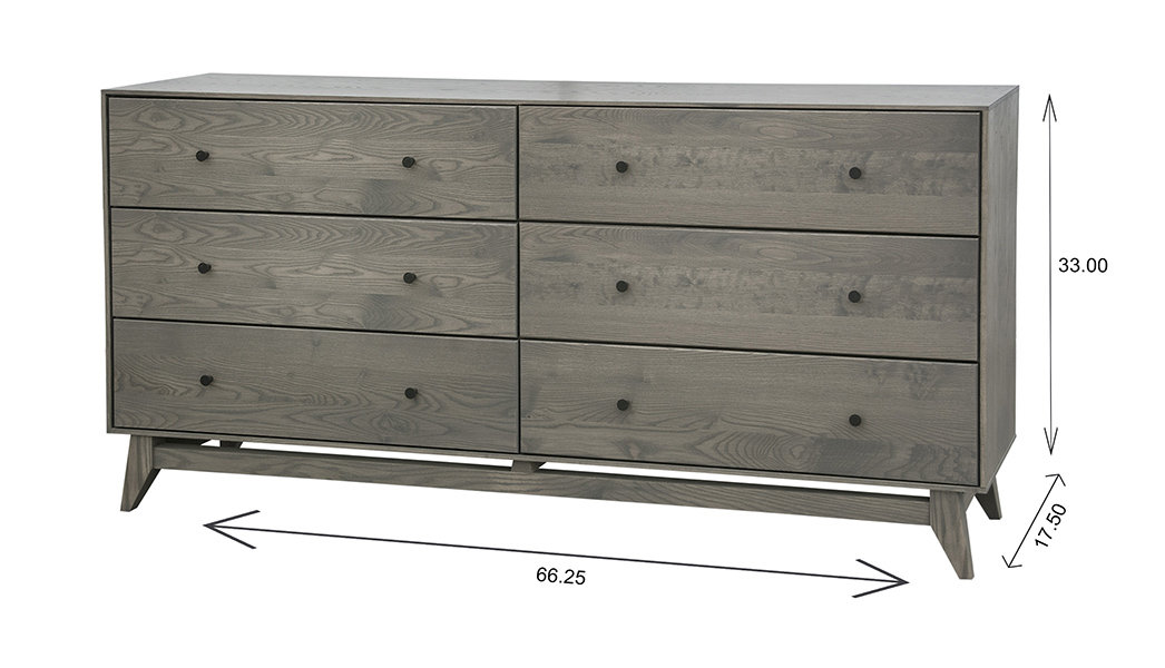 Wood Castle Montano Tall Double Dresser Dimensions